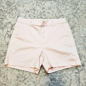 A New Day Pink Stretch Shorts Long Inseam